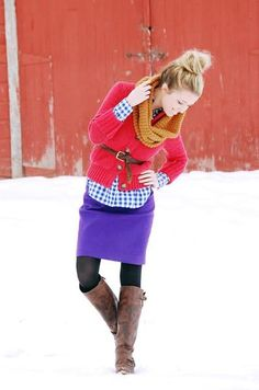 winter outfit. Adorable times infinity!! :-)