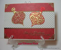 I'd rather be crafting: Christmas card challenge - Use something new