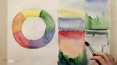 DrawFox. Акварельная живопись для начинающих. 1-1. Цветовой круг и образ...