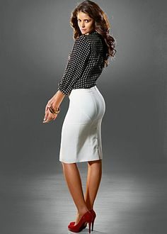 Button Back Skirt- It's all about the details and this skirt has it going on