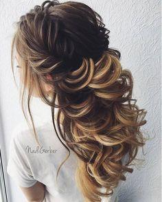 Nadi Gerber Long Wedding Hairstyles / http://www.deerpearlflowers.com/long-wedding-hairstyles-from-instagram-hair-gurus/4/