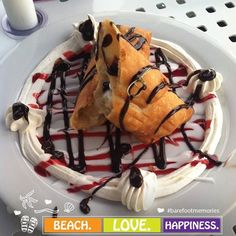 Calories don't count when you're on vacation. So why not treat yourself to a fried cookie dough burrito from our on-site restaurant, Riptides Grill. #HIRFortWaltonBeach #BarefootMemories #FortWaltonBeach #HolidayInnResort #cookiedough #burrito