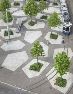 Neugestaltung Tessiner Platz by Kuhn-Truninger  Zurich, Switzerland, 2006