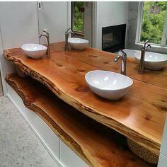 Current Trends in Bathroom Remodeling – House Remodel HQ Rustic Bathrooms, Wood Bathroom, Bathroom Renos, Modern Bathroom, Small Bathroom, Master Bathroom, Washroom, Ideas Baños, Live Edge Wood