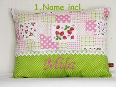 Namenskissen - Namenskissen inclusive Name und Füllung - ein Designerstück von Julies-Place bei DaWanda Girls Bedroom, Bedrooms, Bedroom Decor, Religion, Designer, Diaper Bag, Throw Pillows, Etsy, Toss Pillows