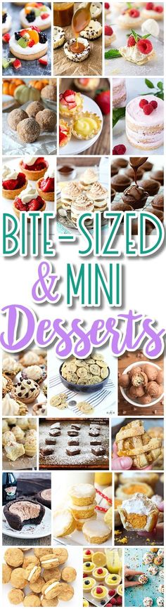 The BEST Bite Size Dessert Recipes - Mini, Individual, Yummy Treats, Perfectly Pretty for Valentine's Day, Easter, Mother's Day, Baby and Bridal Showers, Birthday Party Dessert Tables and Holiday Celebrations - Dreaming in DIY