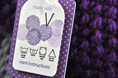 Handmade tags with care instructions on Raspberry Suite at http://dawnmcvey.typepad.com/these_are_a_few_of_my_fav/2013/10/gift-tags-for-handmade-items.html