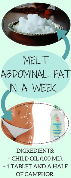 Melt Abdominal Fat In A Week Only Using The Combination Of These Two Ingredients Burn Belly Fat Fast, Reduce Belly Fat, Weight Loss Detox, Weight Loss Goals, Start Losing Weight, Lose Weight, Lose Fat, Workout For Flat Stomach, Visceral Fat