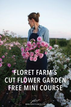 3 acre flower farm-Learn how to grow beautiful, high quality cut flowers on a small scale. Floret Mini Courses and the Floret Online Workshop shows you step-by-step how to grow, harvest and sell high quality cut flowers. Cut Flower Garden, Flower Garden Design, Beautiful Flowers Garden, Beautiful Gardens, Flower Gardening, Small Yard Flower Garden Ideas, Flowers For Garden, Container Gardening, Cut Garden