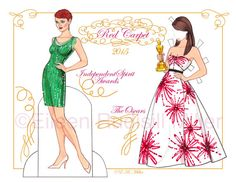 Academy Awards Season 2015 Red Carpet Paper Doll