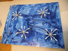 Snowflake Picture. Fun for a winter project before or after Christmas!
