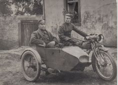 Grandpa Johnson driving his colonel somewhere in France during World War I.