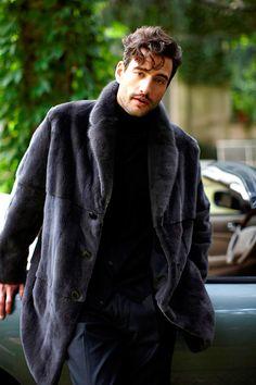 Men mink coat produced by Paolo Moretti fur coats Milan