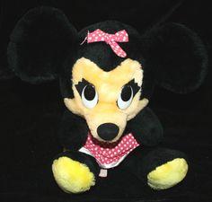 "Vtg Minnie Mouse Plush Walt Disney Productions 15"" w/ Polka Dot Apron Vintage Stuffed Animal Vintage Toy by myrustygold on Etsy Aprons Vintage, Vintage Toys, Disney Stuffed Animals, Needlepoint Kits, Crochet Doilies, Friends In Love, Walt Disney, Pixie, Minnie Mouse"