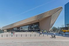 Rotterdam centralrailway station by architect Zaha Hadid