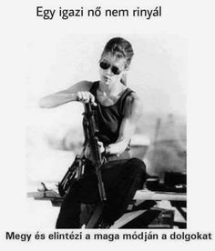 Terminator 2 - Sarah Connor Played by Linda Hamilton Directed by James Cameron. Acting Debut for Edward Furlong Terminator Linda Hamilton, Poses, Badass Women, Best Mom, Role Models, Actors, Girls, People, Terminator Movies