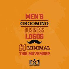 Men's grooming business logos #Movember
