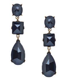 Blu Bijoux Gem Triple Drop Earrings