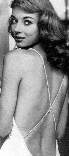 """Vikki Dougan (1929- ) - American model and actress. She is often considered to be the prototype of Jessica Rabbit, the cartoon character from the 1988 film 'Who Framed Roger Rabbit'. Dougan was nicknamed """"The Back"""" because of her expensive backless dresses."""