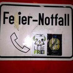 In case of party emergency  #sticker #streetart #pandakratie #stickertrades #inthenights #bamboo #pandaismus #propapanda #streetart #germany #lebefrei #stickerart #stickertrade #pandakratie #stickerporn #stickerslap #kastreetart #fächerstadt #stickerartist #slaps #streetart #feiernotfall #stickergalerie #stickerartgermany #aufkleberkunst #stickers #stickerporn #party #feieralarm #inthestreets