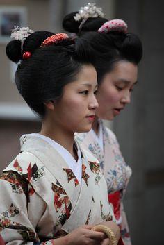 April 2012: Katsutomo and Mameroku of Gion Kobu by arnaud drijard on…