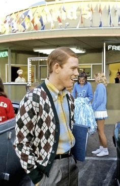 Ron Howard on the set of Happy Days.