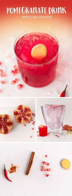 Pomegranate Drink #water #refreshing #pomegranate https://www.bwt-filter.com/en/products/Table-water-filter-Cartridges/expert-opinion/water-balancing-recipes/Pages/default.aspx