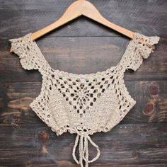 Next morning crochet bralette - natural