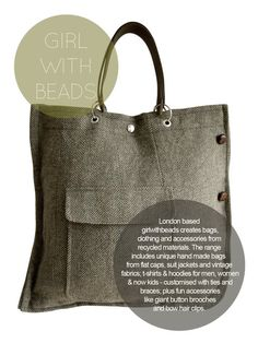 Upcycled clothes, into bags | Girl with Beads