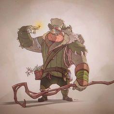 elliottbeavan posted: Gentle giant #firbolg #fantasyart #fantasy #druid #nature #conceptart #characterdesign #digitalart #instaart #fun #draw #dungeonsanddragons