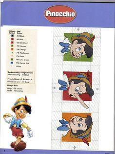 sandylandya@outlook.es  Pinocchio Cat Cross Stitches, Cross Stitch Bookmarks, Cross Stitch Needles, Cross Stitching, Disney Cross Stitch Patterns, Counted Cross Stitch Patterns, Cross Stitch Embroidery, Cross Stitch Boards, Cross Stitch For Kids