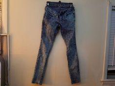 Girls stonewashed size 1 skinny jeans