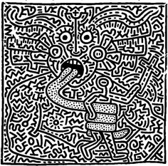 Coloriage adulte Keith Haring