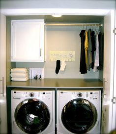 This would be perfect in my small laundry space love the bar for hang dry items!