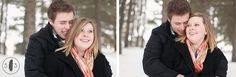 Winter Engagement Photos.  Lincoln, NE.  Spencer Studios.