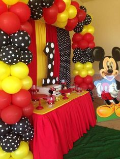 Mickey Mouse Birthday Party Ideas Photo 1 of 11 Catch My Party Mickey Mouse Birthday Decorations, Theme Mickey, Mickey 1st Birthdays, Fiesta Mickey Mouse, Mickey Mouse First Birthday, Mickey Mouse Baby Shower, Mickey Mouse Clubhouse Birthday Party, Mickey Mouse Parties, Mickey Party