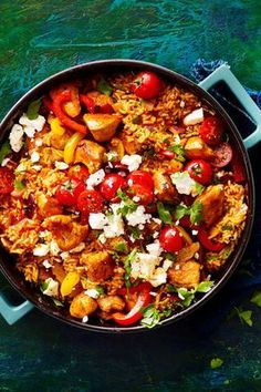 """Reispfanne """"Italien-Express"""" dinner recipes with hamburger Reispfanne """"Italien-Express"""" Rezept Healthy Salad Recipes, Vegetarian Recipes, Casserole Recipes, Crockpot Recipes, Grilling Recipes, Rice Recipes For Dinner, Popular Recipes, Free Recipes, Tasty Dishes"""