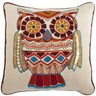 Sedona Embroidered & Beaded Owl Pillow