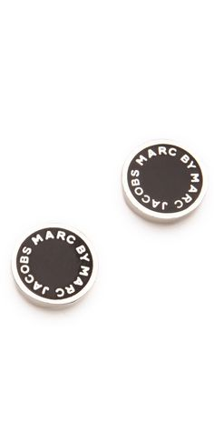Marc by Marc Jacobs Logo Disc Stud Earrings $48.00