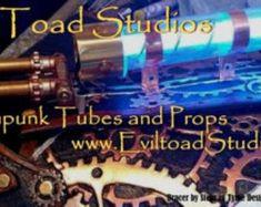 Steampunk tubes radio tube tesla tube by EvilToadStudios on Etsy