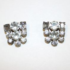 Vintage Rhinestone Crystal clip on earrings - PennysRus PennysRus www.pennysrus.com in association with: www.yourlocalartists.com  online Thrift store, thrift shop, thrift, , Insta sales, sale, for sale, bargains, never pay retail, I , love good deal, Bargain shopper, insta style, frugal, style for less, bargain, bargain hunter frugal living, thrifty, I love vintage, thrift society, resale, style, citizens of thrift, vintage, vintage clothing for sale, one of a kind, vintage style, vintage…
