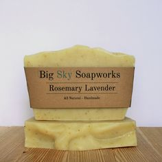 Rosemary Lavender - All Natural Soap, Handmade Soap, Cold Process Soap by BigSkySoapworks on Etsy
