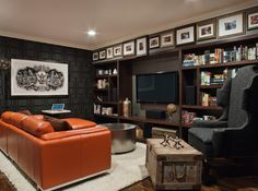 embrace the lack of natural light - create a dark man cave!