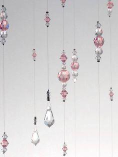 Light Pink Baby Girl Room Idea Mobile Suncatcher Bling Nursery