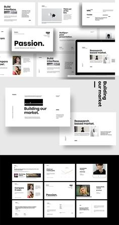 Passion - Minimal powerpoint Powerpoint Presentation Templates, Keynote Template, Psd Templates, Brochure Template, Flyer Template, Brand Guidelines Template, Minimal, Passion, Marketing