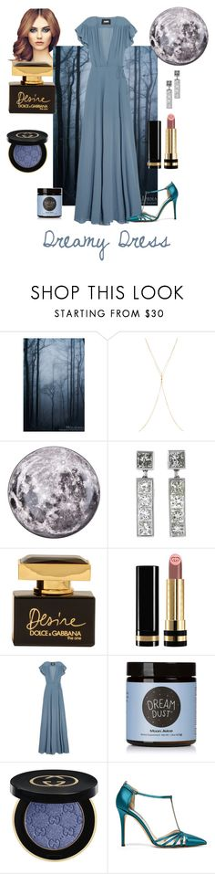 """""""dreams & Dresses"""" by jessbotelho ❤ liked on Polyvore featuring Chan Luu, Seletti, Dolce&Gabbana, Gucci, Reformation, Moon Juice and SJP"""