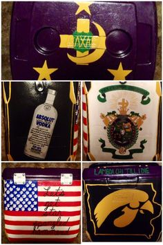 Lambda Chi Alpha fraternity cooler  Last years cooler, formal 2013 University Of Iowa frat cooler