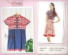 Batik dress Batik Dress, Diy Dress, Kebaya, Ikat, Designer Dresses, Short Sleeve Dresses, Asian, Couture, Embroidery