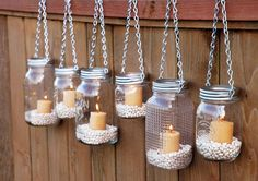 Interesting DIY Outdoor Lighting Ideas For Your Beautiful Yard : DIY Glass Bottle Chandeliers Outdoor Lighting Ideas