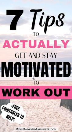 If you struggle to start an exercise routine, here are 7 tips to get motivated to work out and be healthier overall. You will learn how to STAY motivated. Self Motivation, Fitness Motivation Quotes, Workout Motivation, Fun Workouts, At Home Workouts, How To Get Motivated, Fitness Tips For Women, Destress, Want To Lose Weight